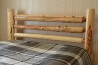 Split Rail Cedar Log Bed
