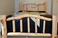 Arched Cedar Log Bed