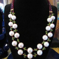 Pearl-Garnet-Peridot (double)(sold)