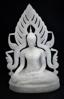 Burmese Buddha Mixed with Lanna Thai Style (Marble)