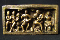 Erotic Temple Art, Bronze Votive, Kathmandu Valley,  19th century, 7 inch by 3.75 Panel-SOLD