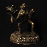 Antique Bronze Lord Hanuman Statue Holding Mount Dron of Sanjeevani -SOLD