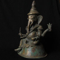 Burmese Bronze Six Arm Ganesh