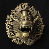 Tibetan Dragon Wall Hanging Candle Holder, 70-90 Years Old