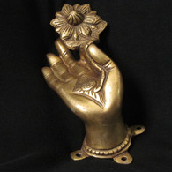 Bronze Buddha Hand with Flower, Patan Nepal