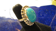 Large Smooth Oval Sleeping Beauty Turquoise Ring    Size 8 1/2