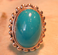 Sleeping Beauty Turquoise Ring  Size 7 1/2