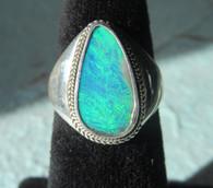 Lightning Ridge Opal Doublet #7 (Size 81/2)