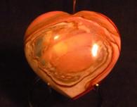 SOLD-Polychrome Jasper Heart shape  #5
