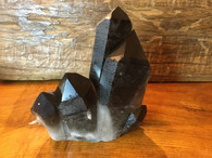 SOLD-The Dark City Cluster, Four Very Dark Smoky Quartz Crystals