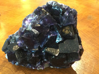 Deep Purple Florite from Hunan Provine China 918grms.-SOLD