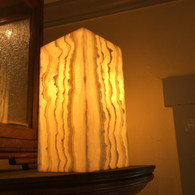 YELLOW LACE ONYX LAMP SET PRICE (#1)