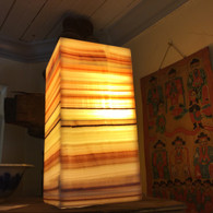 Yellow Lace Onyx Lamp (#4)