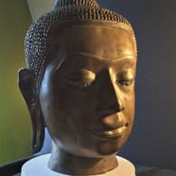 Lana Thai Bronze Buddha Head Replica, Northern Thailand