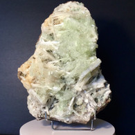 An overgrown garden of light Green Apophyllite, Scolecite, and StilbIte