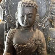 Black Stone Stupa from Kathmandu Valley, Circa mid 1600