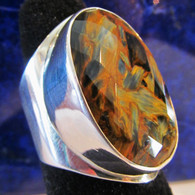 Faceted Pietersite Ring Size 9 1/2