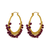 Ruby Gypsy Hoops