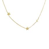 14 karat yellow gold diamond celestial necklace!