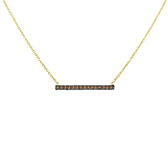 14 karat pave diamond bar necklace