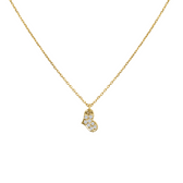 pave tiny heart necklace