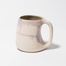 Pink, purple and white marbled mug