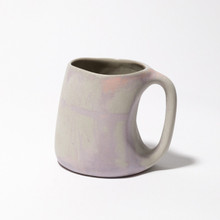 Purple, orange and grey marbled mug