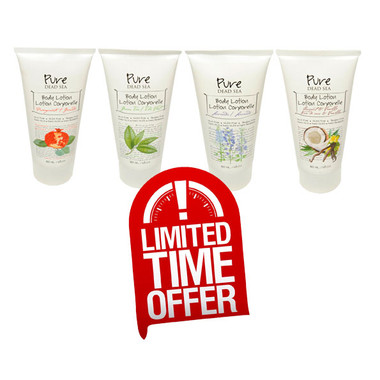 Purse Dead Sea Body Lotion 4 Flavors