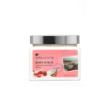 Use  Dead-Sea Sea of Spa Body Scrub Litchi & Coconut Milk Aroma to give your skin the perfect gift