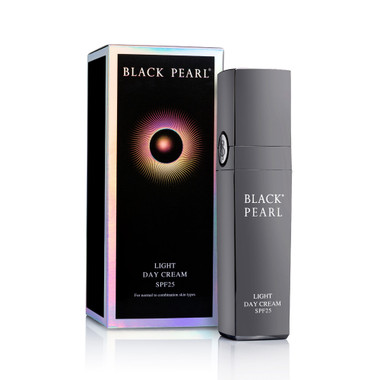 Dead-Sea Black Pearl Light Day Cream SPF 25 with hyaluronic acid from the Israeli cosmetic brand Sea of Spa is effective age reducer and skin moisturizer product.