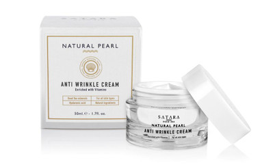 Dead-Sea Satara Natural Pearl Anti Wrinkle Cream contains hyaluronic acid and has the unique combination of pearl powder with Dead-Sea minerals, Aloe Vera and antioxidants which will give your skin an unrivaled result.