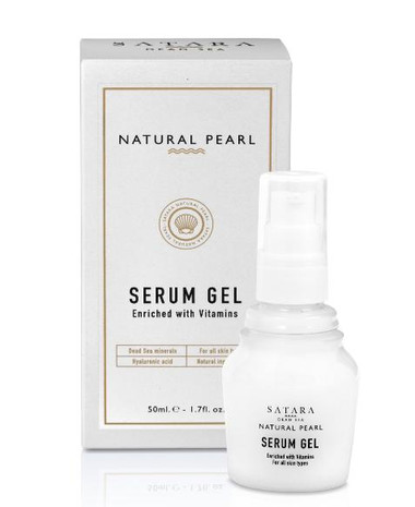 Dead-Sea Satara Natural Pearl Serum Gel for face and eye area has a light texture, absorbs quickly and leaves a feeling of freshness, youth and health.