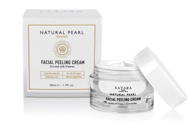 Dead-Sea Satara Natural Pearl Facial Peeling Cream is all you need in order to rejuvinate your skin. Satara Natural Peral facial Peeling Cream contains pearl powder, Dead-Sea minerals, seaweed extracts, sesame oil and jojoba oil.