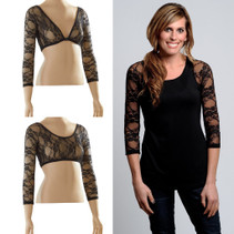 Basic 3/4 Length Black Lace Sleevey Wonders