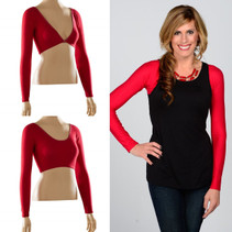 Basic Long Sleeve Red Jersey Sleevey Wonders