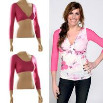 Basic 3/4 Sleeve Pink Jersey Sleevey Wonders