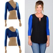 Basic 3/4 Sleeve Blue Jersey Sleevey Wonders