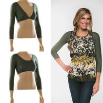 Basic 3/4 Sleeve Green Jersey Sleevey Wonders