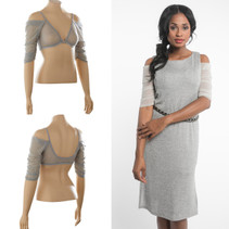 Waterfall 1/2 Sleeve Silver Mesh Sleevey Wonders