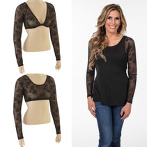 Basic Long Sleeve Black Lace Sleevey Wonders
