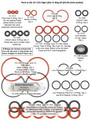 O-Ring Assortment for High Lifter, fits both models