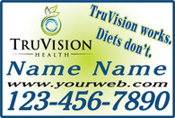 A Set of TruVision White Car Magnets