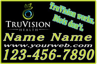 A Set of Green TruVision Car Magnets