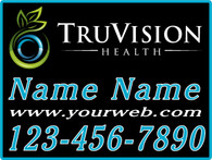 TruVision Blue Yard Sign
