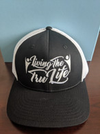 Hat Black & White FlexFit Large / XL