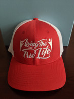 Hat Red & White FlexFit Large / XL