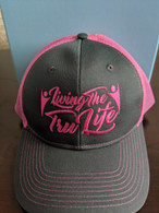 Hat Grey & Pink Adjustable