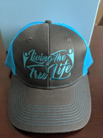 Hat Grey & Teal Blue Adjustable