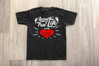 Black T-Shirt with Heart Logo