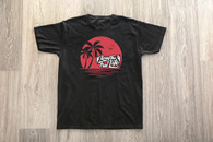 Black T-Shirt Sunset Logo